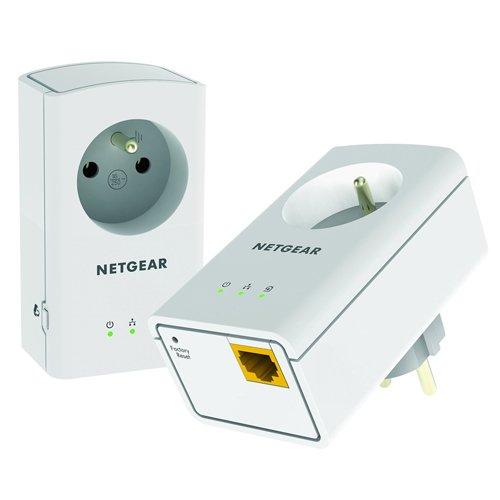 NETGEAR XAVB5421-100FRS - Pack de 2 adaptateurs CPL 500 avec prise filtrée et 1 port Ethernet