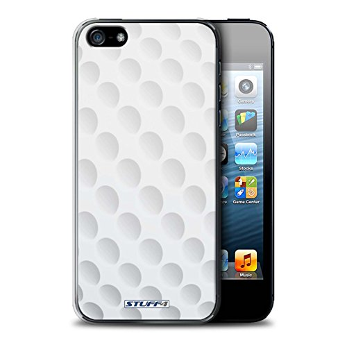 Coque en plastique pour Apple iPhone 5/5S Collection Balle Sportif - Rugby Golf