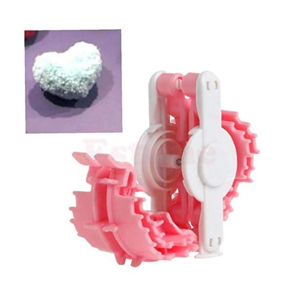 En Forma de corazón de Pom Pom Fabricante de la Pelusa de la Bola Tejedor Que Hace Punto de Craf Herramienta pequeña… 2
