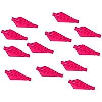 B Baosity 12 Pedazos Plumas Fletchings de Tiro con Archero Entrenamiento Duradero Silicona - Rosa