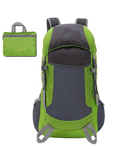 Leichte Faltbare Taschen Outdoor-Sport-Bergsteigen Taschen-,Black Green