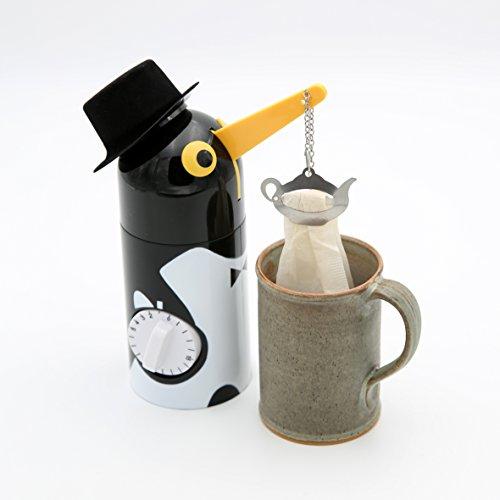 Kuchenprofi Tea Boy Pinguin 3110000000 Schwarz inkl. 2 Teebeutelklammern