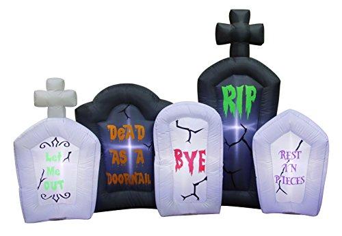 Occasions Aufblasbare blinkende Lichter Grabsteine Szene Halloween Dekoration