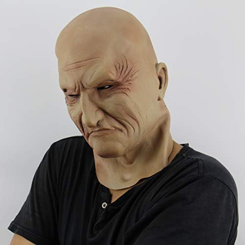 Halloween-Maske, Halloween-Kostüm Old Man's Headgear Latex-Maske, Horror Ghost Scary, Streich Maske Gesicht Scary Party, Bar Requisiten, Maskerade 8 In × 12 In