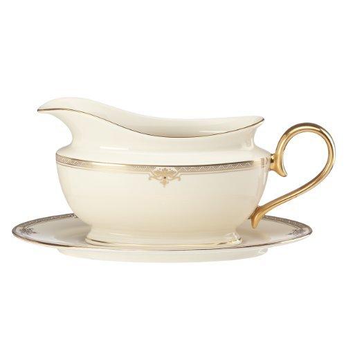 Lenox Republic Sauce Boat and Stand, Ivory by Lenox Lenox Sauce Boat