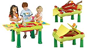 GoAppuGo Amazing Sand and Water kids activity Table with removable trays, easy cleaning, extendable lids, more play area and accessories - Baby birthday gift for 1 2 3 year old boy girl child kids