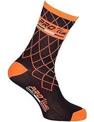Proline Team - Calcetines de ciclismo, naranja fosforescente; 1 par de talla única