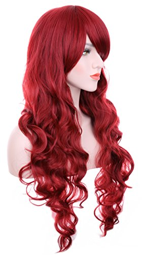 ch/90cm Red Curly Full Wigs For Anime Cosplay and Daily use by Hxhome (Cosplay Anime)