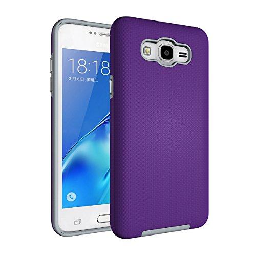 Galaxy A5(2017) Hülle,EVERGREENBUYING Abnehmbare Hybrid Schein SM-A520F Tasche Kratzfest Schutzhülle Case Cover mit Rutschfest Etui für Samsung GALAXY A5 (2017 version) Schwarz Lila