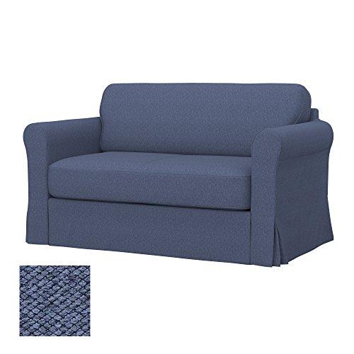 Soferia - IKEA HAGALUND Funda para sofá Cama, Nordic Denim