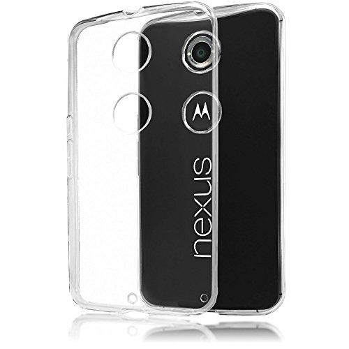 Motorola Nexus 6 Hülle Handyhülle von NICA, Soft Slim Silikon Case Cover Crystal Clear Schutzhülle Dünn Durchsichtig, Etui Handy-Tasche Backcover Transparent, Phone Schutz Bumper für Motorola Nexus-6 (Nexus 6 Slim Case)
