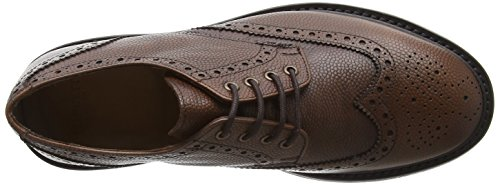 Schnürhalbschuhe Gibson Brogue Herren LONDON HACKETT tan Braun 869 IqSBE