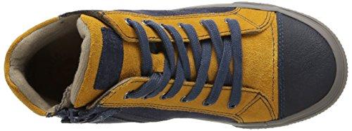 Garvalin York Jungen Sneaker Blau - Bleu (A Vaquero/Mostaza/Serraje)