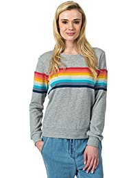 Rip Curl Paradise Fleece Sudadera, Mujer, Gris (Cement Marle), M
