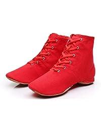 Bailarinas Amazon Tacon Zapatos Rojo Para es Bajo CUqXwxHU