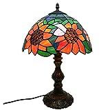 Tiffany Stil Tischlampe Idyllische Sonne Blume Glasmalerei Europäischen Stil Tischlampe In Höhe 18 Zoll Für Wohnzimmer Wohnzimmer Studie Schlafzimmer