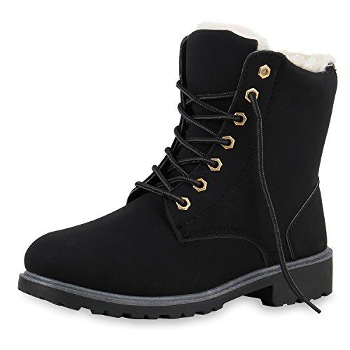 SCARPE VITA Worker Boots Damen Outdoor Stiefeletten Zipper Warm Gefüttert 129297 Schwarz Grau Warm Gefüttert 38