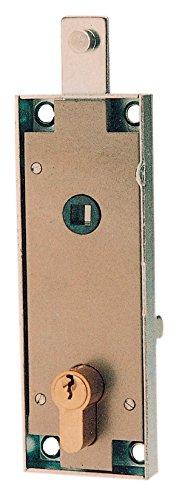 PREFER SERRATURA X PORTE BASCULANTI CILINDRO IN OTTONE SAGOMATO ART.B561(6561)* Confezione da 1PZ