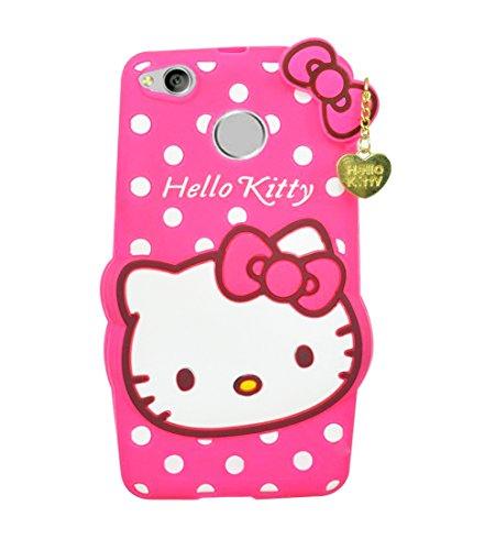 Booz (TM) 3D Designer Cute Hello Kitty Back Cover for Mi Redmi 4- Pink