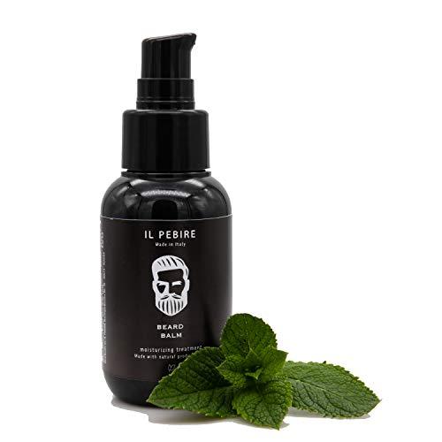 IL PEBIRE Beard Balm aus 100% natürlichen Inhaltsstoffen - regenerative Bart creme für Bart Pflege & mehr Bartwuchs - dank langanhaltender Formel auch für 3-Tage-Bart Pflege