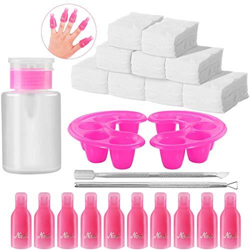 El juego herramientas remover esmalte uñas, incluye