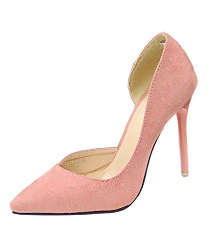 Mineroad Mujer Verano Zapatos De Tacon De Punta Elegantes Color Del Caramelo Estiletes Rosa EU 39