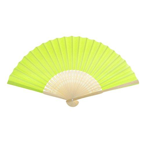 Einseitiges DIY Fertigkeit Phantasie Tanzparty Papierhand Fan- Tief Grün - Grün Fluoreszierend