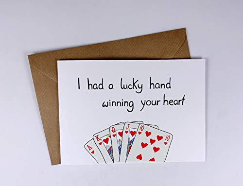Schöne Grusskarte - Valentinstag - Freund - Liebe - Fernbeziehung - Jahrestag - ich liebe Dich - Karte (Grußkarten Schreibwaren)