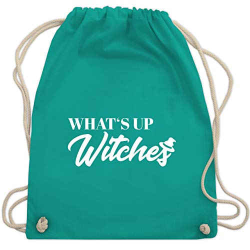 Halloween - Whats up witches - Unisize - Türkis - WM110 - Turnbeutel & Gym Bag