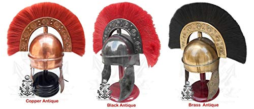 Historicalmuseum Mittelalter King Arthur römischen King Helm SCA/LARP Griechisch Viking, Spartan Halloween mit Ständer aus Holz