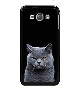 iFasho black Cat Back Case Cover for Samsung Galaxy J1 (2016 Edition)