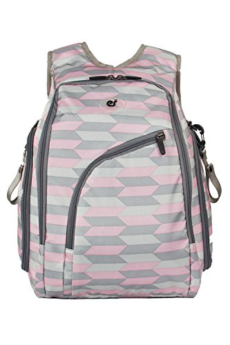 ecosusi-baby-nappy-mummy-changing-bags-diaper-backpack-with-anti-theft-back-pocket-2pcs-set-pink