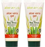 (2er BUNDLE) | Pura Aloe Aloe Vera Gel & Tea Tree 200ml | 200ml - Aloe Pura