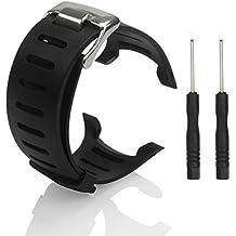 Suunto correa de repuesto Replacement Watch Bands–BUTEFO suave negro de goma de repuesto reloj banda correa para Suunto T1T1C T3T3C T3D t4C t4d ss012801000ss012804000con 2libre herramienta - EB000200, Without Screws