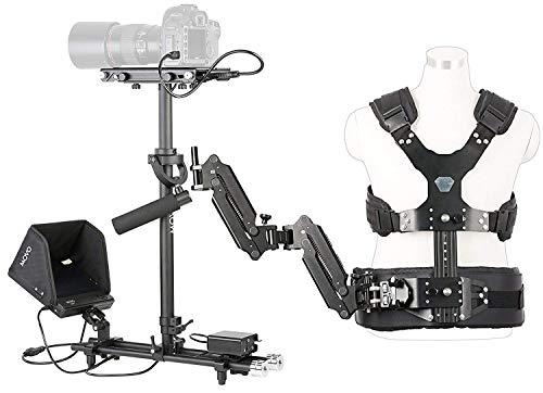 Movo X100 Ultimate Steadycam System Bundle - inkl. Handheld Video Stabilisator, Weste mit Dual-Gelenkarm, LCD-Monitor und Deluxe Tragetasche Handheld-video-monitor