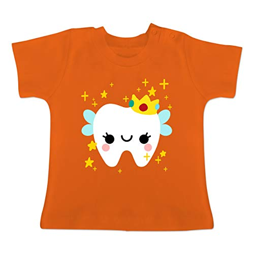 Karneval und Fasching Baby - Süßes Zahnfee Kostüm - 1-3 Monate - Orange - BZ02 - Baby T-Shirt Kurzarm