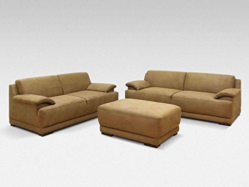 ALESSANDRIA 3er Boxspringsofa 3-Sitzer Sofa Couch Beige -