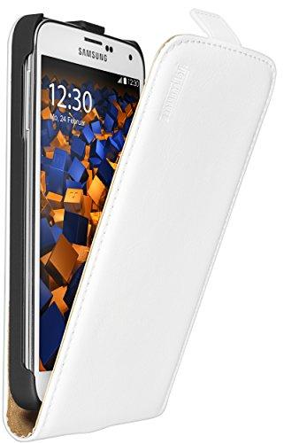 mumbi PREMIUM Leder Flip Case für Samsung Galaxy S5 / S5 Neo Tasche weiss