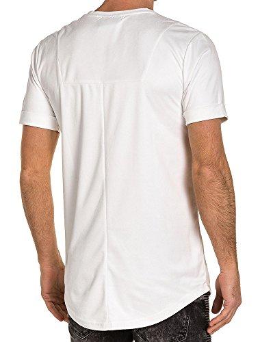 Project X - Shirt weiß man Wildleder-Effekt Weiß