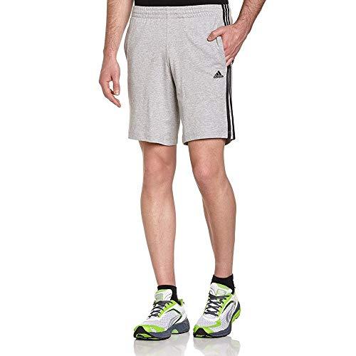 Adidas ESS 3S Short Mens Herren ClimaLite Sweat Shorts Kurze Hose Grau, Grösse:S
