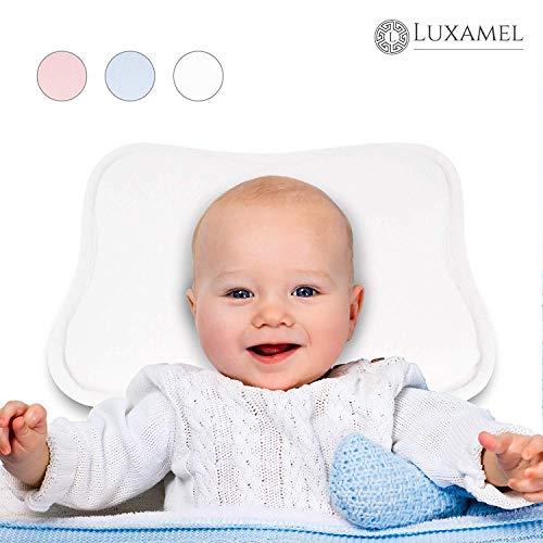 Luxamel   Orthopädisches Babykissen   Ergonomisches gegen Plattkopf und Verformung   Für Säuglinge und Kleinkinder   100{f22a269dec2092a90b9a63e80f5db145480e87f63e422cefc826daf78af26e08} Schadstofffrei   Weiß
