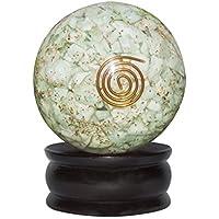 Crocon Amazonite Reiki Healing orgone Kristall Kugel Ball mit Ständer, für Chakra, Aura-& EMF-Schutz 55mm preisvergleich bei billige-tabletten.eu
