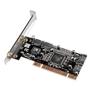 Semlos 4 Ports Sil3114 PCI Sata Raid Controller Card with 2 Sata Cables