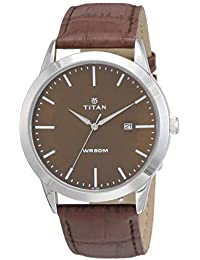 Titan Analog Brown Dial Men's Watch-NK1584SL04