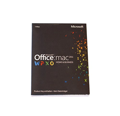 Microsoft Office:mac WPXO Home and Business 2011 - 1 MAC (Product Key...
