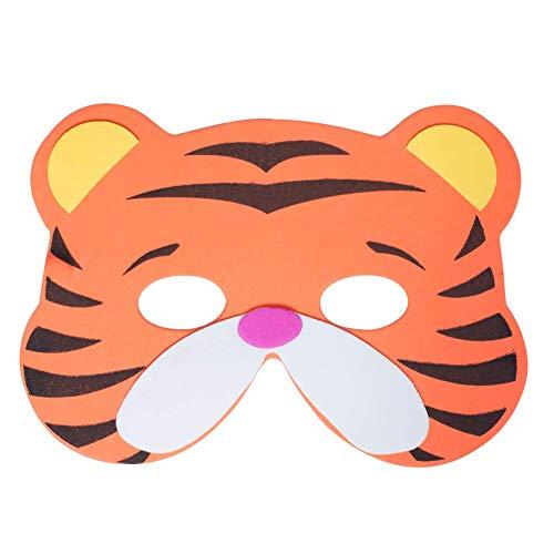 Werbewas 1x Schaumstoff Masken mit Tiger Tiermotiv - als Karnevals, Halloween, Geburtstags-Party Kostüm (Tiger Halloween-kostüme Für Hunde)