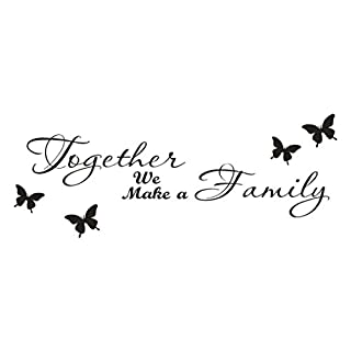 Together We Make a Family Wall Stickers,Hshi Art Quotes Wall Decals Removable Wall Decoration Home Decor Wall Murals