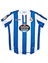 Macron Camiseta RC Deportivo La Coruña Primera Equipación 2018-2019 Niño Royal-White Talla