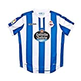 Macron Camiseta RC Deportivo La Coruña Primera Equipación 2018-2019 Niño Royal-White Talla JL