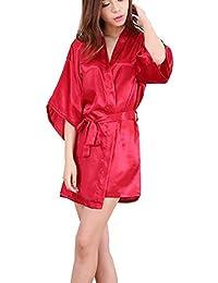 Lady In Kimono Robe Bata Dama De Honor Vintage Vestido De Novia Noche Calentamiento SLW Pijama